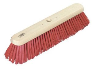 "18"" RED PVC MED PLATFORM BROOM"