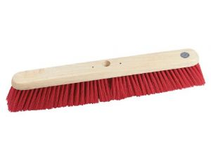 "24"" RED PVC STIFF P/FORM BROOM"