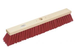 "24"" STIFF RED PVC PLATFORM BROOM"