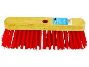 """11"""" STIFF RED PVC F/TOP BROOM"""
