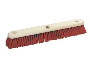 "24"" RED PVC/POLY PLATFORM BROOM"