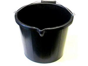 15L H/DUTY BLACK PLASTIC BUCKET