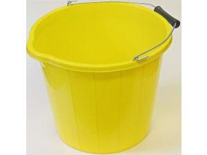 15L H/DUTY YELLOW PLASTIC BUCKET