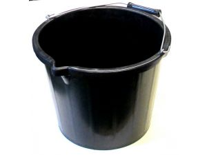 15L L/DUTY BLACK PLASTIC BUCKET
