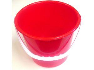 10 LITRE PLASTIC BUCKET-RED