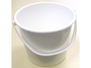 9 LITRE PLASTIC BUCKET-WHITE(MBK8W)