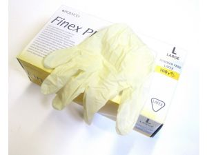LATEX GLOVES DISPOSABLE - LARGE PF(GLAT1PF)