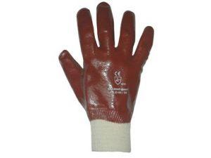 PVC RED KNIT WRIST GLOVE - MENS(GPVC1)