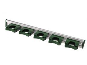 515mm  ALUM RAIL + 5 HOLD1 HANGERS - GREEN ENDS