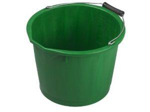 15L H/DUTY PLASTIC BUCKET - GREEN