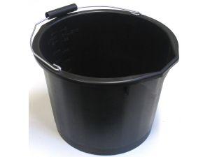 15L H/DUTY PLASTIC BUCKET - BLACK