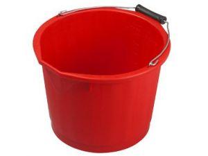 15L H/DUTY PLASTIC BUCKET - RED