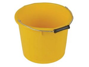 15L H/DUTY PLASTIC BUCKET - YELLOW