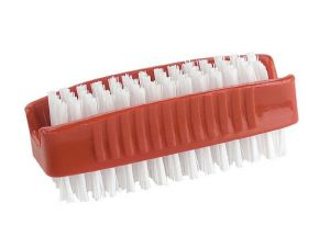 PLASTIC DOUBLE SIDED NAIL BRUSH