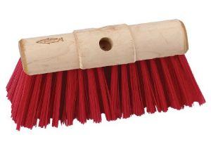 "13"" RED PVC SCAVENGER BROOM HD"